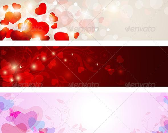 GraphicRiver Valentine Banners 3738638
