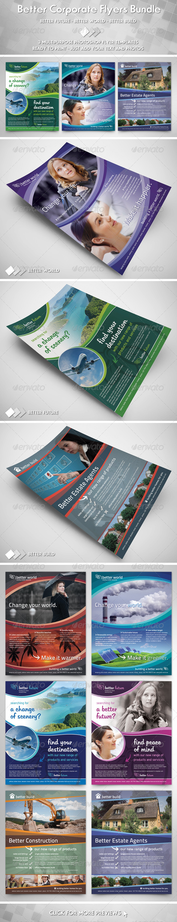 GraphicRiver Better Corporate Flyers Bundle 3738647