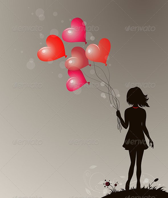 GraphicRiver Silhouette of Girl 3738650