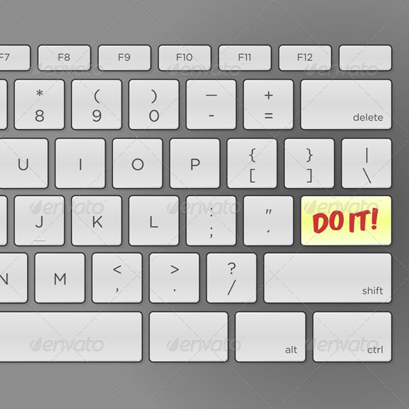 GraphicRiver Do It Keyboard 3738659