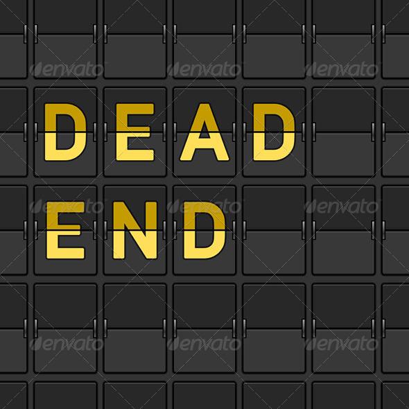 GraphicRiver Dead End Flip Board 3738665