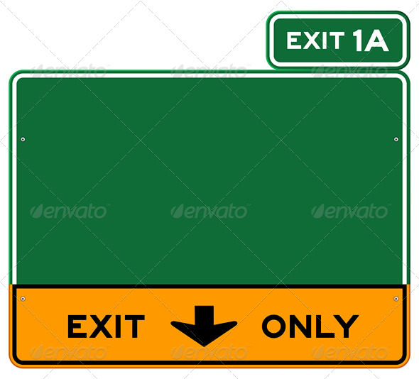 GraphicRiver Exit Only Sign 3738693