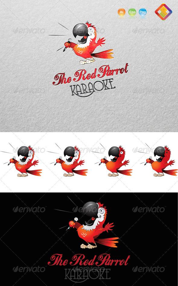 Red Parrot Karaoke Logo