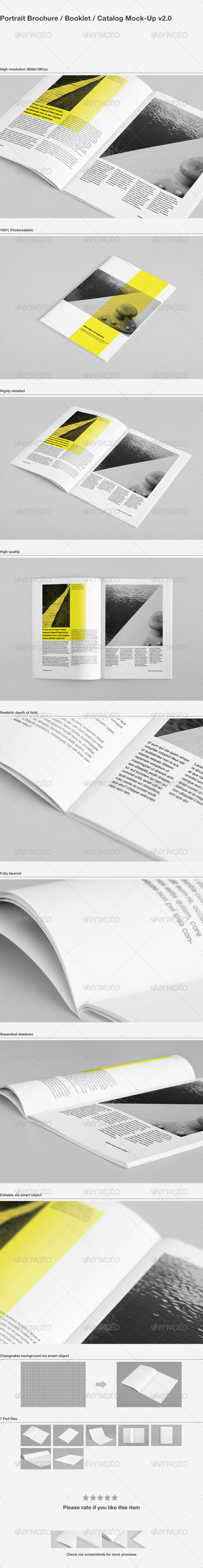 Brochure / Booklet / Catalog Mock-Up - Brochures Print