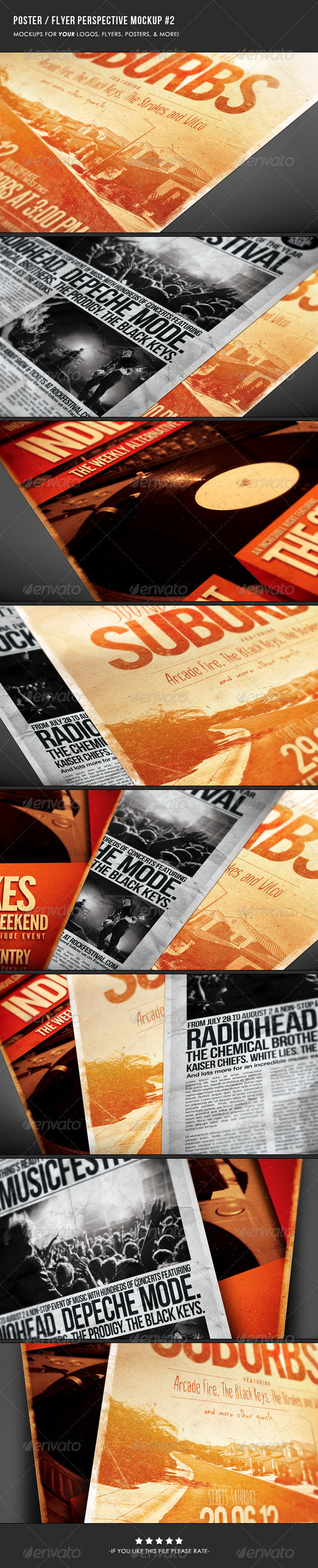 Poster & Flyer Perspective Mockup #2 - Flyers Print