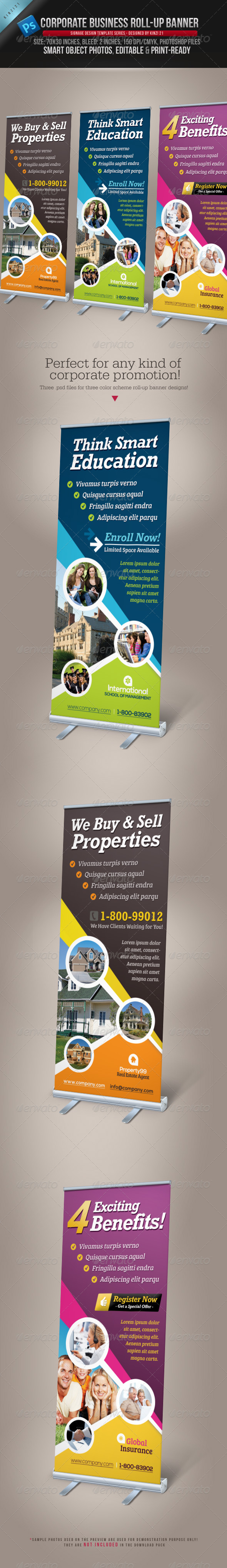 GraphicRiver Corporate Business Roll-up Banner 3740415