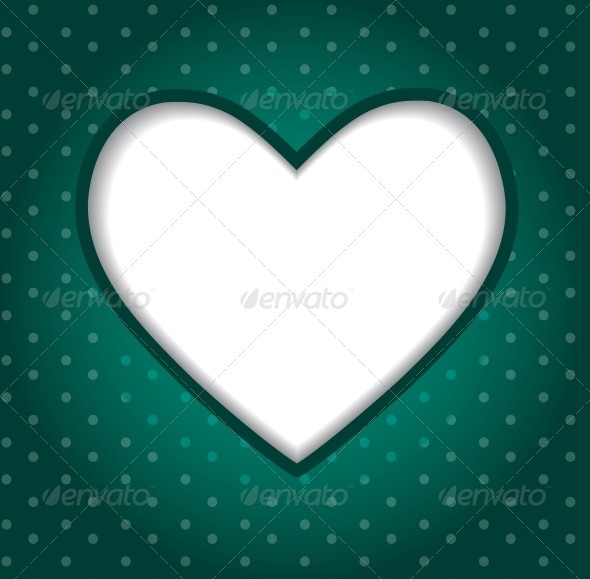 Valentines Day Paper Heart Background - Vector