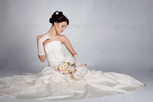 Bride portrait - Stock Photo - Images