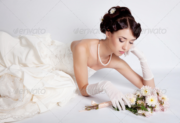 Brunette bride - Stock Photo - Images