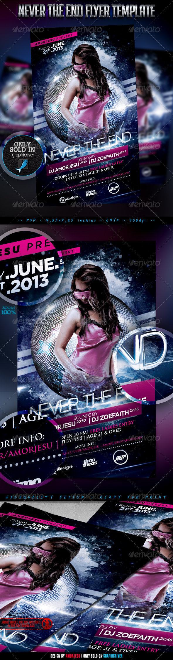 Never The End Flyer Template - Clubs & Parties Events