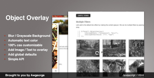 CodeCanyon jQuery Object Overlay 3742124