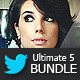 Twitter Backgrounds Bundle 2 - GraphicRiver Item for Sale