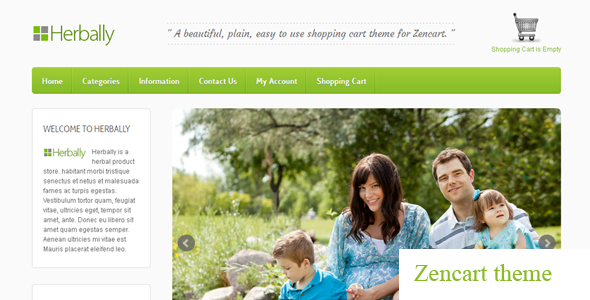 ThemeForest Herbally Clean Zencart theme 3743304