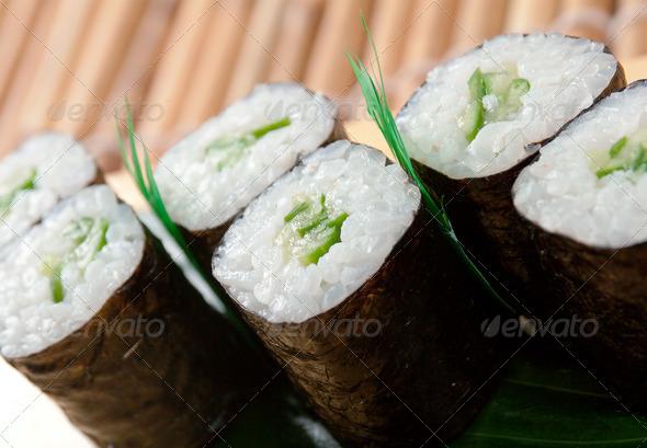 PhotoDune Japanese sushi closeup 3743612
