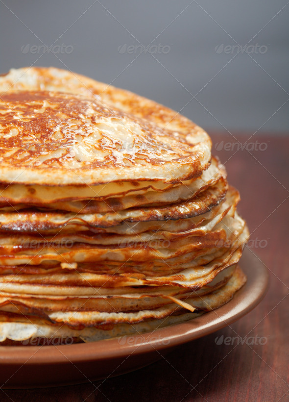 PhotoDune stack of pancakes russian traditional food 3743618