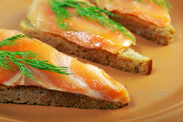 PhotoDune Sandwich with smoked salmon 3743628