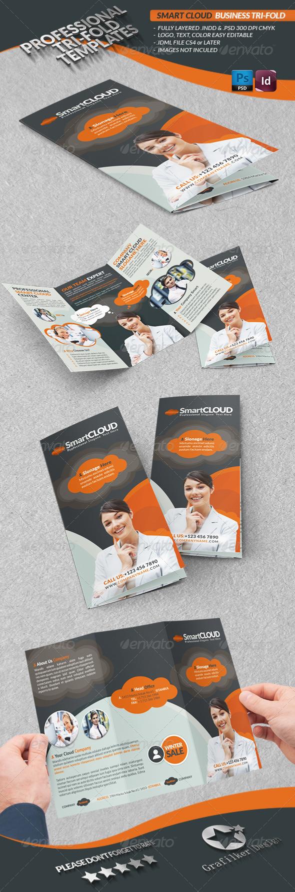 GraphicRiver Smart Cloud Business Tri-Fold 3743590
