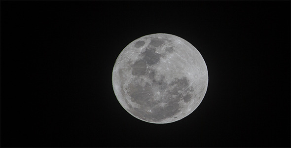 400mm Full Moon Time Lapse 4K Resolution