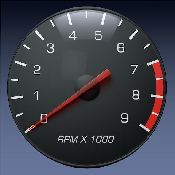 3DOcean Tachometer Gauge for Auto Truck Instrument Panel 3738753