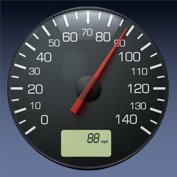 Speedometer Gauge for Auto/Truck Instrument Panel - 3DOcean Item for Sale
