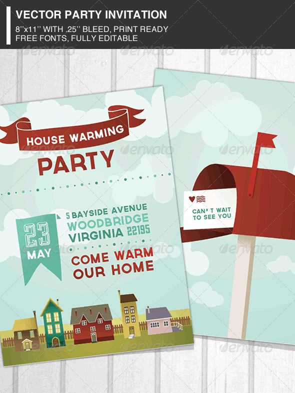 GraphicRiver House Warming Party Invitation 3744058