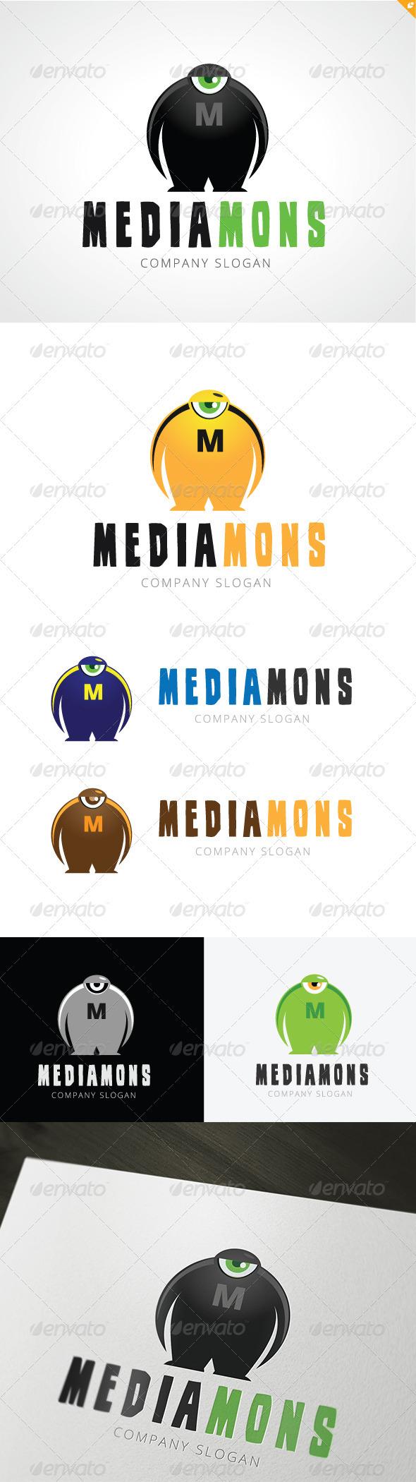 GraphicRiver Mediamons Logo 3686337