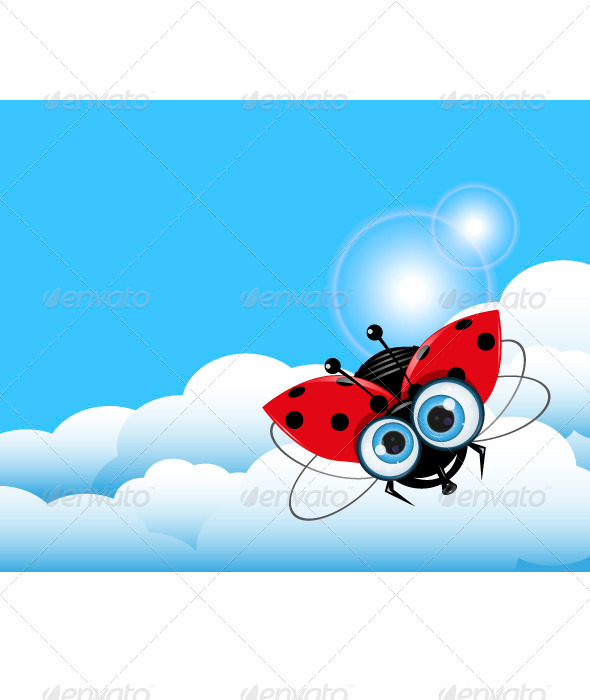 GraphicRiver Ladybug in the Sky 3744256