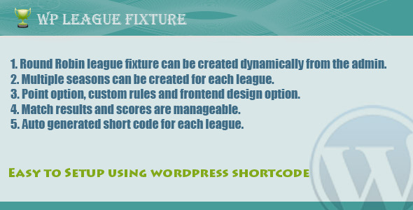 CodeCanyon Wp league fixture 3725868