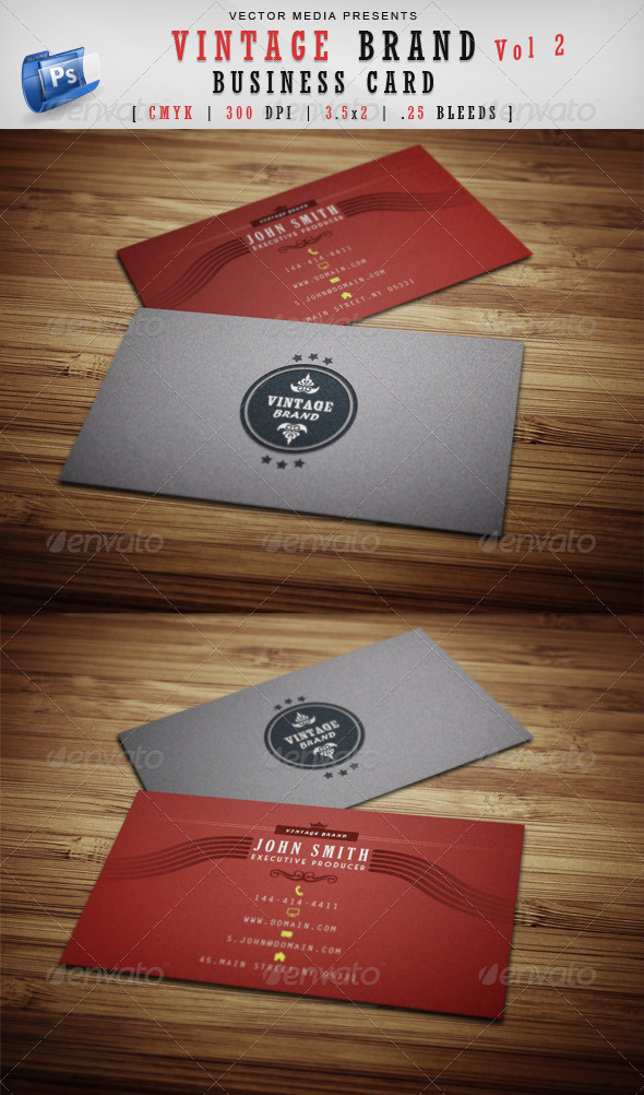 GraphicRiver Vintage Brand Business Card [Vol 2] 3691805