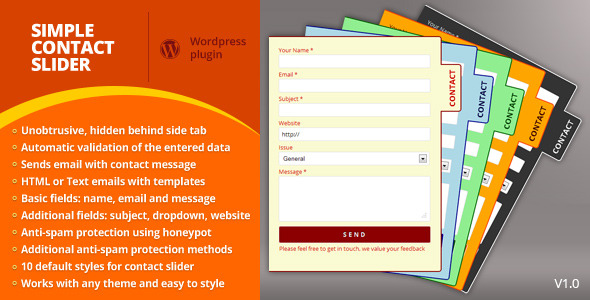 CodeCanyon Simple Contact Slider 3744517