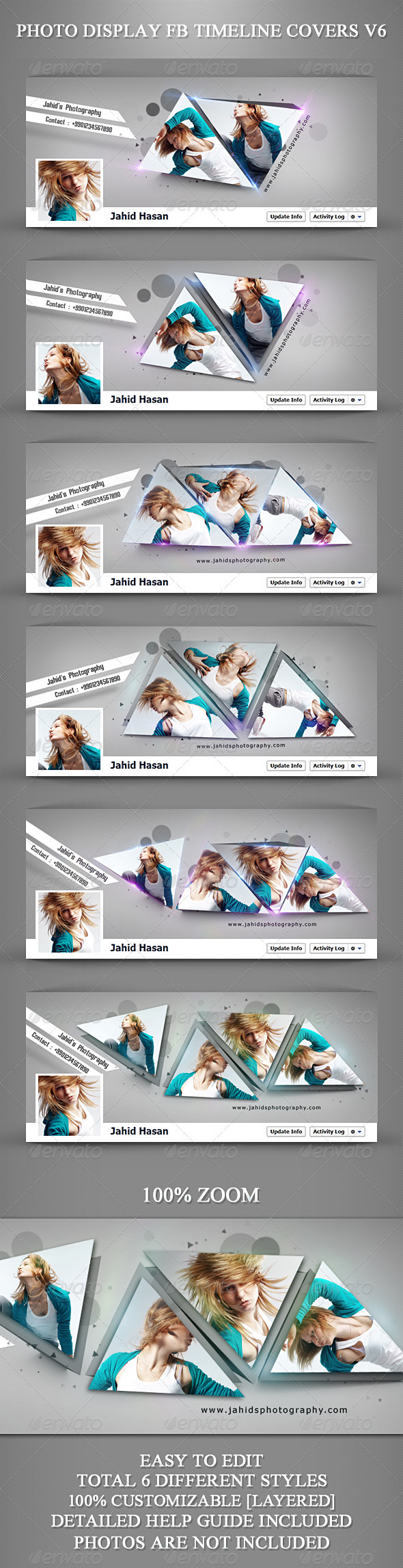 GraphicRiver Photo Display FB Timeline Covers V6 3744698