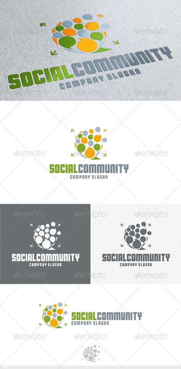 GraphicRiver Social Community Logo 3693108