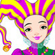 Mardi Gras harlequin lady - GraphicRiver Item for Sale