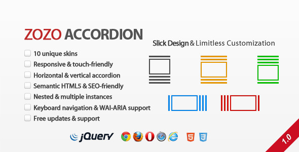 CodeCanyon Zozo Accordion Responsive and Touch-Friendly 3745464
