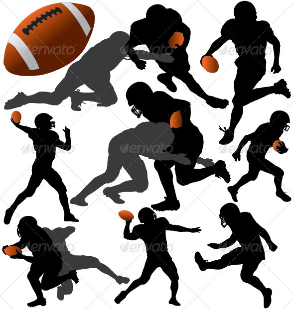 GraphicRiver American Football Vector Silhouettes 3745559