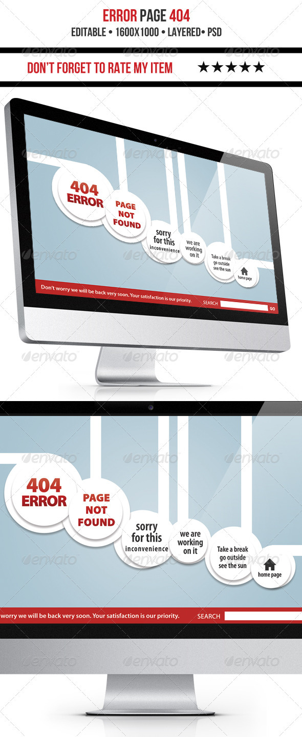 Nice 404 Error Page - 404 Pages Web Elements