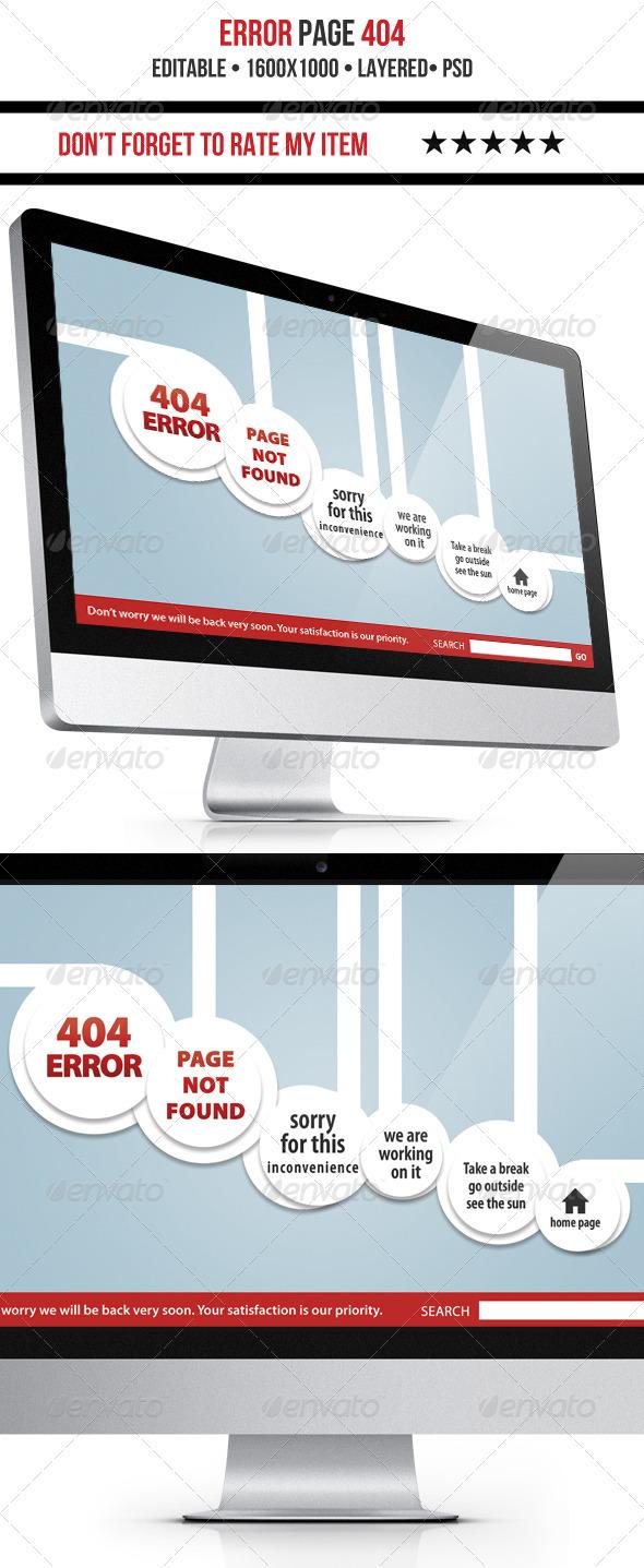 GraphicRiver Nice 404 Error Page 3661313