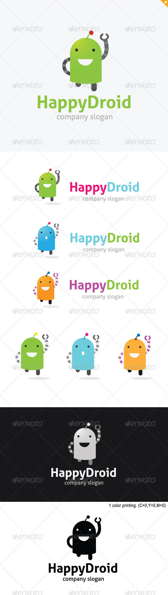GraphicRiver Happy Droid Logo 3686504