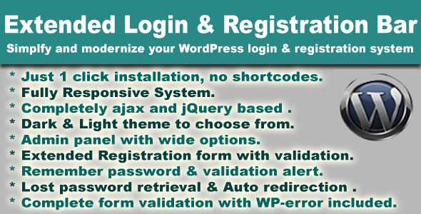 CodeCanyon Extended WordPress Ajax Login & Registration Bar 3721974