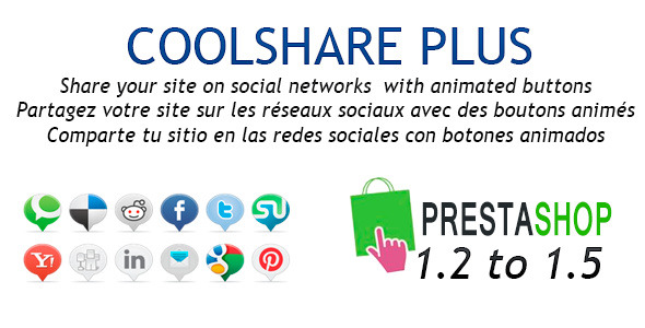 CodeCanyon CoolShare Plus Prestashop Social Networks Module 3746297