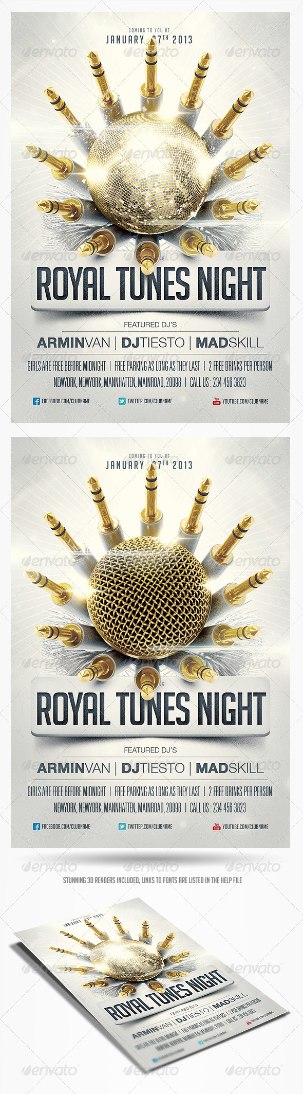 GraphicRiver Royal Tunes Flyer Template 3746570
