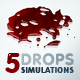 5 Liquid Drops Simulations Pack - ActiveDen Item for Sale