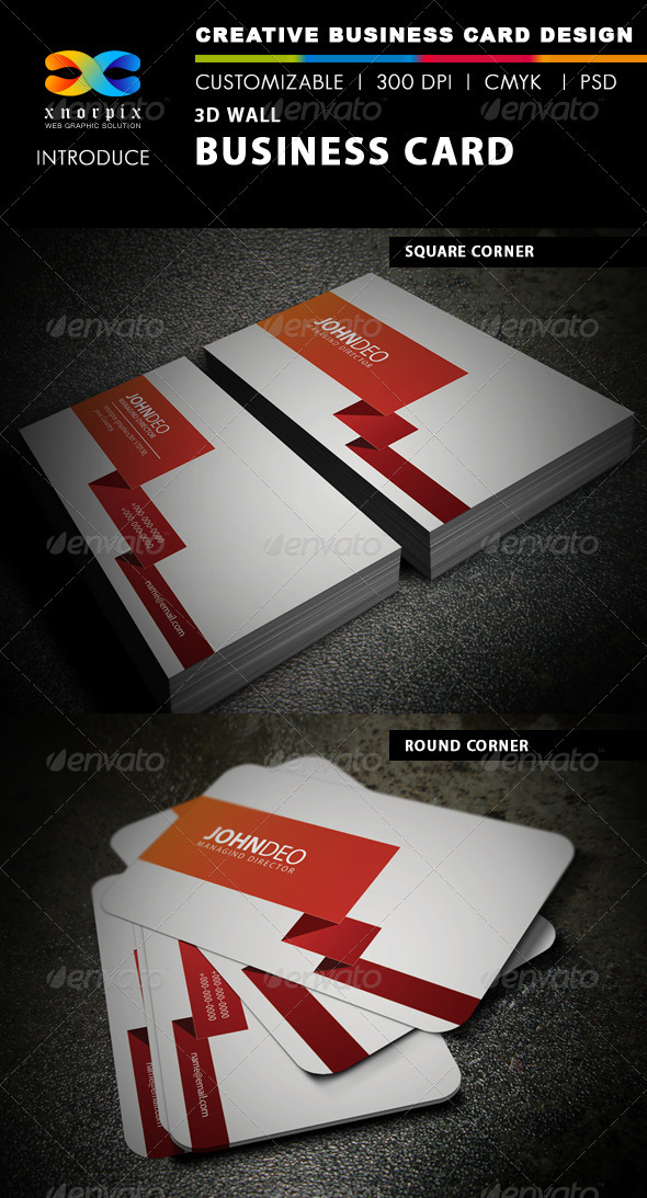 3d Wall Business Card - Creative Business Cards