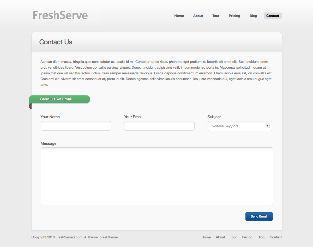 FreshServe - A Web App / SaaS Wordpress Theme