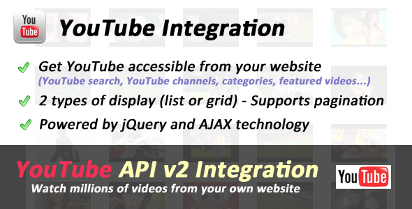 CodeCanyon YouTube API Ultimate Integration 403773