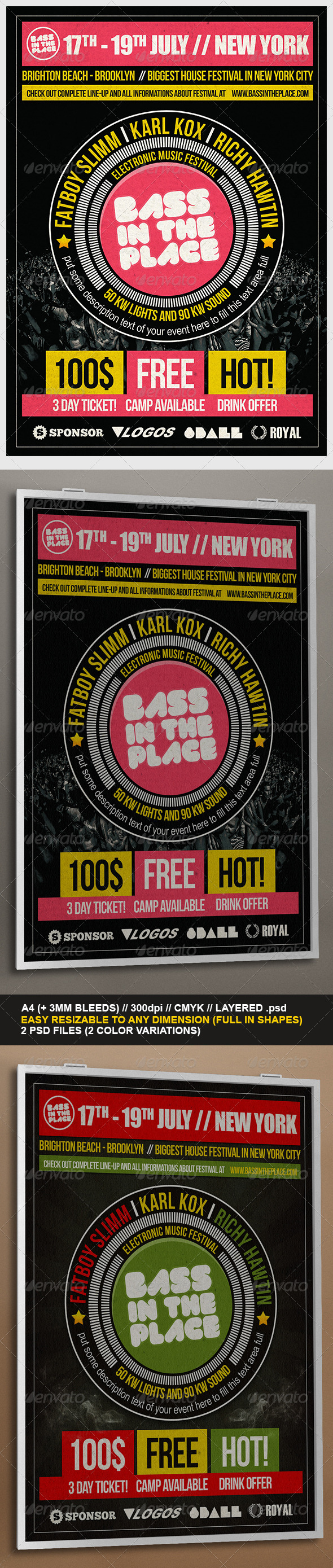 GraphicRiver Universal Festival Flyer Template 3749470