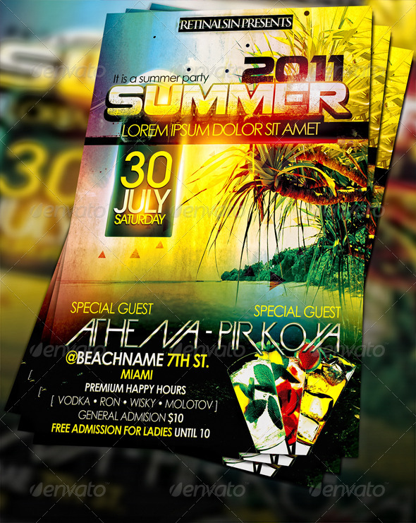 GraphicRiver Summer Party Flyer 229467