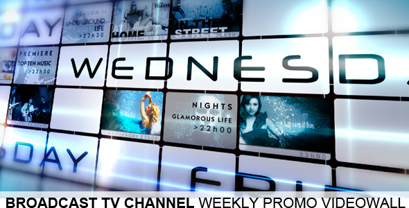 Broadcast TV Channel Video Wall Weekly Promo