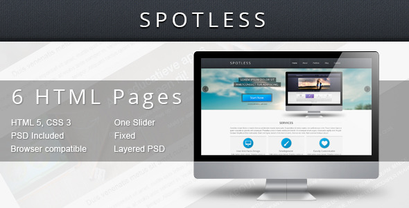Spotless - HTML Template