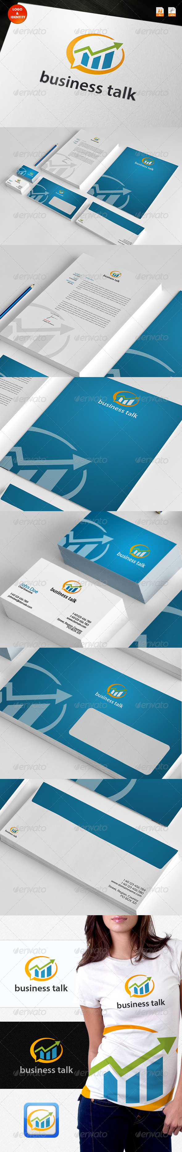 GraphicRiver Business Talk Logo & Identity 3750574